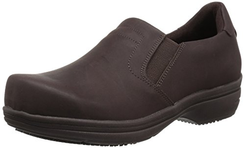 Easy Works Women's Bind Health Care Professional Shoe, Brown Nubuck, 11 W US by Easy Works