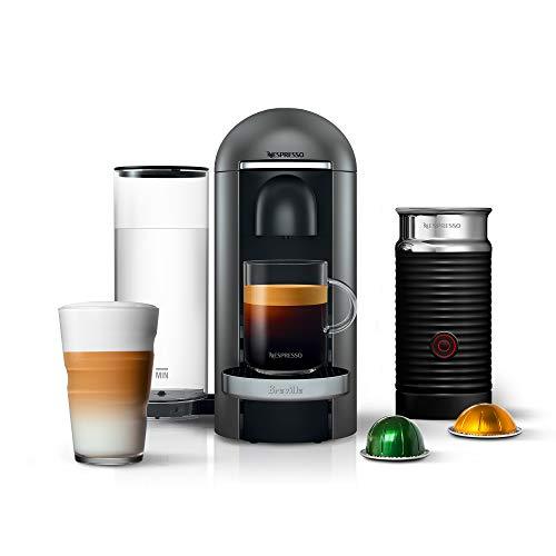 Breville-Nespresso USA BNV450TTN1BUC1 VertuoPlus Coffee and Espresso Machine, Titan