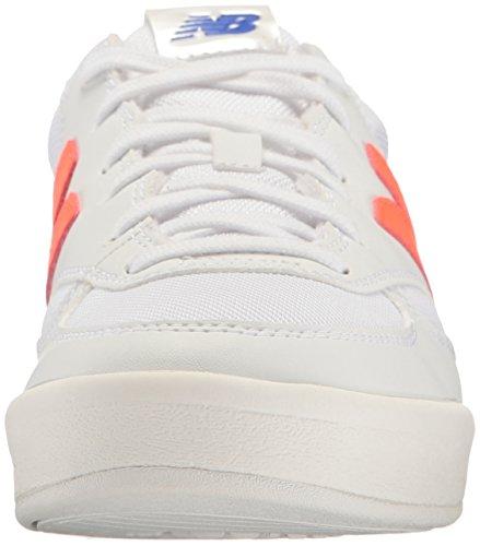 Ny Balans Kvinna Wrt300 Sneaker Vit / Alfa Apelsin