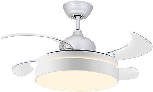 WPCBAA Ventilador de techo invisible con luz LED Ventiladores de ...