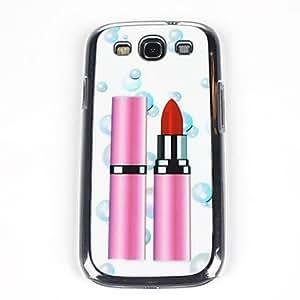Beautiful Lipstick Pattern PC Back Case for Samsung S3/I9300
