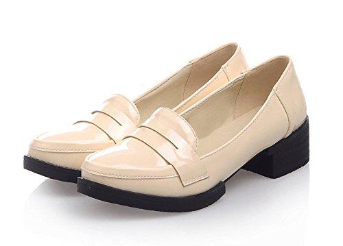 Sfnld Womens Fashion Slip On Work Loafer Shoes apricot CfO7jR8p