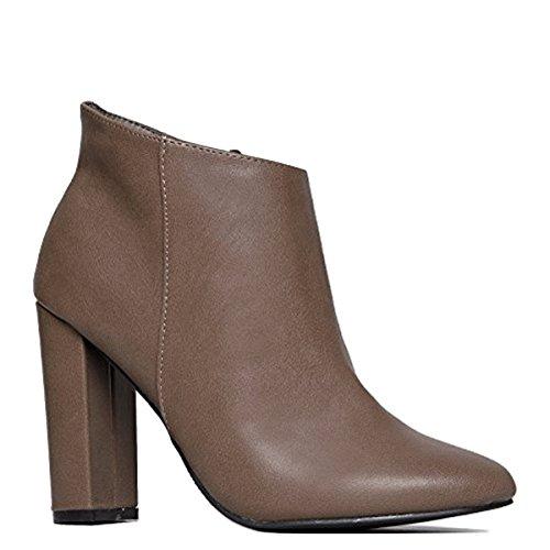 Sleek Simple Ankle Bootie - Cute Retro Mod Vintage Round Heel - Classic Zip Up Boot - Breckelle's Linda Ankle Dress - London Jimmy Choo Shop