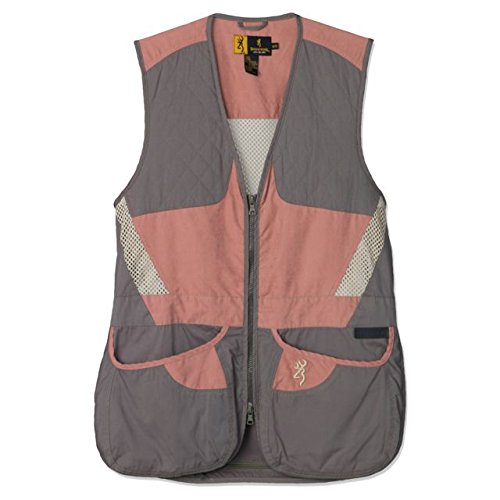 Browning Womens Summit Shooting Vest,Smoke/Hot Pink,Medium 3050719402