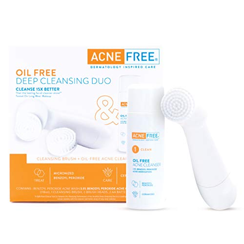Acnefree Oil Free Acne Cleanser And Cleansing Brush Detailed Review