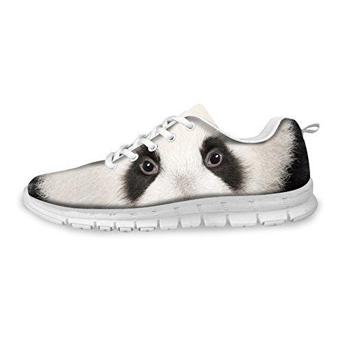 Voor U Ontwerpen Mode Tijger Wolf Dier Stijl Heren & Vrouwen Lichtgewicht Mesh Loopschoenen Panda