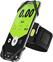 Bone Run Tie Running Armband Phone Holder, Lightweight Sports Cell Phone Arm Band for iPhone 12 11 Pro Max XS