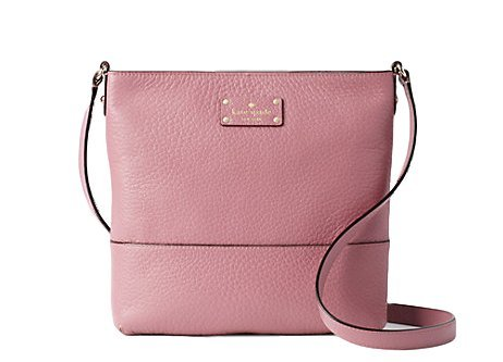 Kate Spade New York Bay Street Cora Leather Crossbody Bag in Rich Rum Raisin by Kate Spade New York