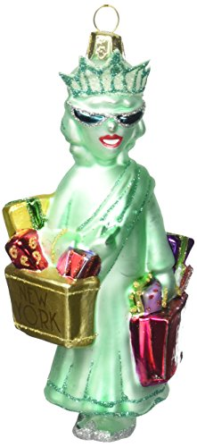 Kurt Adler NYC Shopping Lady Liberty Ornament, 5.25-Inch ()