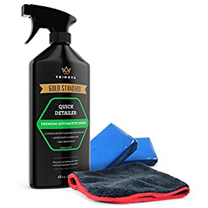 Clay Bar Kit - Auto Detailing Claybar for Car, Truck, SUV. Includes lubricant cleaner and microfiber cloth. Best accessories for automobile exterior. TriNova 18oz.