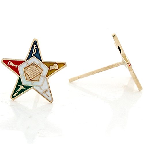 14k Real Gold Enameled Eastern Star Post - Gold Enameled Star Shopping Results
