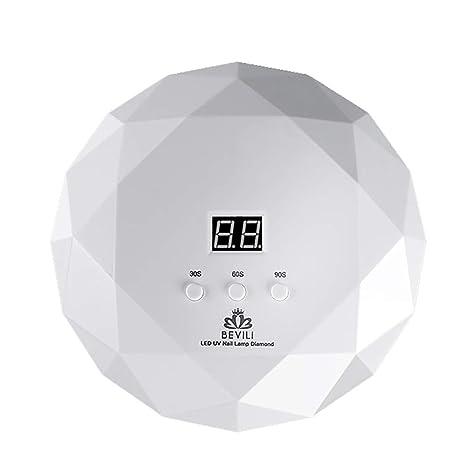 RIXTHY Lámpara LED Uñas 36W,Secador de Uñas con 3 Tipos de ModosTemporizador Profesional Sensor