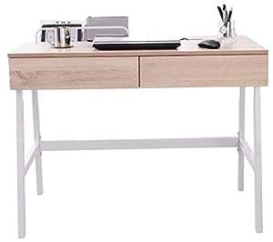 Sixbros mesa de ordenador roble efecto madera ct for Mesa ordenador amazon