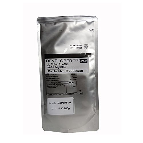 1Bag, Developer Powder Fit For Ricoh Aficio, Suitable For MP 3000 3500 4000 4001G 4002 4500 5000 5001G, Copier Parts MP3500 MP4000 B2969640 Type 4000B 18 (Black), Photocopy Machine