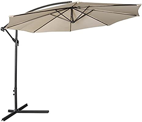 FDS 3 m al aire libre sombrilla parasol para colgar paraguas Patio ...
