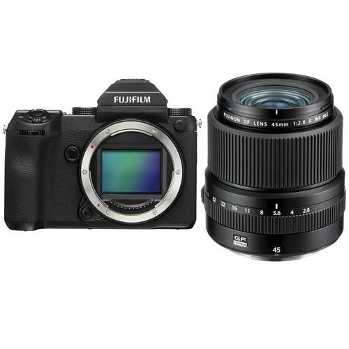 Fujifilm GFX 50S 51.4MP Medium Format Mirrorless Camera (Body Only) with Electronic Viewfinder, Full HD 1080p Video FUJINON GF 45mm F|2.8 R WR Lens