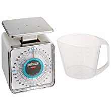 Rubbermaid Commercial Products FGK32 Compact Food Service Mechanical Portion Control Scale, 32 oz. with 1 pint Cup