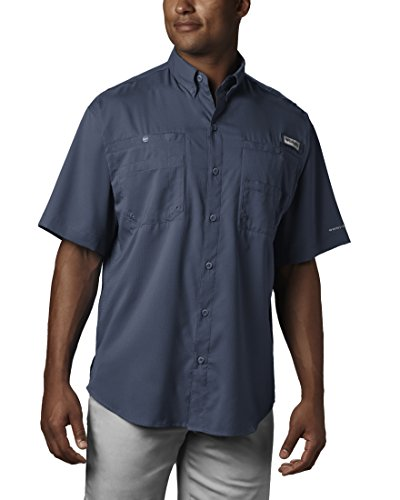 Columbia Mens Tamiami Ii Short Sleeve Shirt, Dark Mountain, Small