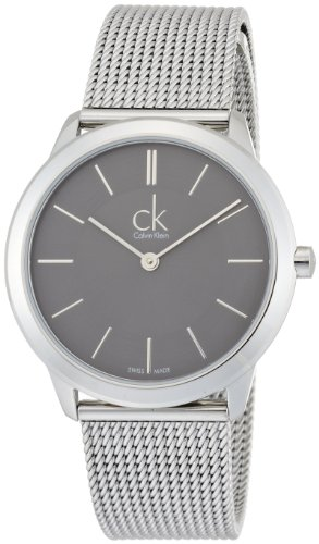Calvin Klein K3M22124 Minimal Grey Dial Ladies Watch