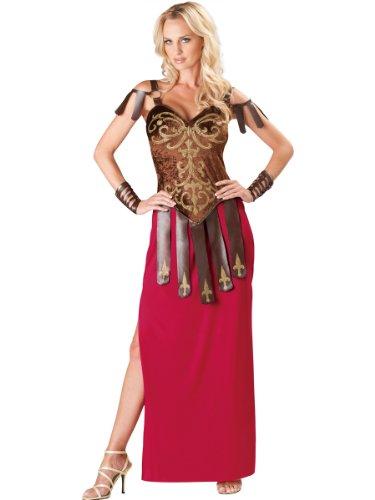 InCharacter Costumes Women's Gorgeous Gladiator Costume, Red/Brown, (Gladiator Halloween Costume Women)