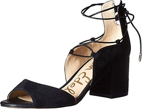 Sam Edelman Women's Serene Dress Sandal, Black Suede, 8.5 M US