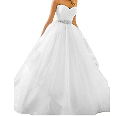 Udresses Womens' Sweetheart Long Wedding Dress Ball Gown Bridal Gown UX009