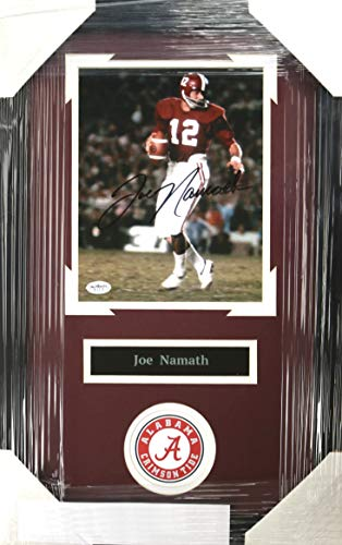 Joe Namath Alabama Crimson Tide Signed Autographed 22