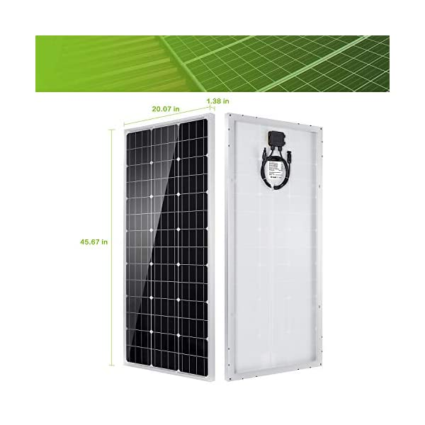 41M4DYo8X L 100W 12V Solarpanel Solarmodul Solarpanel-Set 100 Watt 12 Volt Monokristallines Off-Gitter-System für Wohnmobil, Boot…