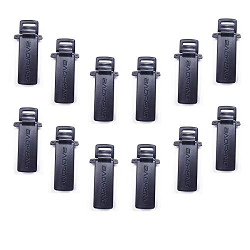 Original Walkie Talkie Belt Clip Compatible for Baofeng UV-5R Series Two-Way Radio Belt Clip with Screws (12 Pack)