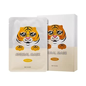 MISSHA Animal Mask Set-Tiger (Rose) 10 sheets