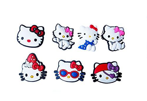 AVIRGO 7 pcs Shoe Charms Set # 126 - (Maru The Cat Costume)