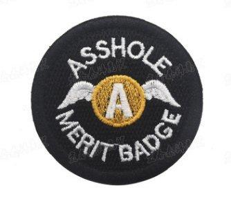 ahole Merit Badge combate táctico bordar Hook/Loop moral parche de Velcro