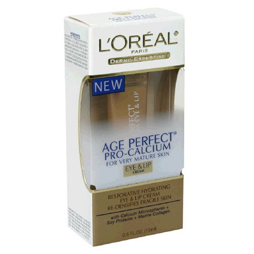 L'Oreal Age Perfect Pro-Calcium Eye and Lip Cream for Very Mature Skin, 0.5-Ounce Tube