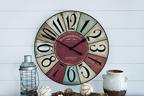 Shabby Chic, Multi-Colored Decorative Wall Clock by Nora Lane