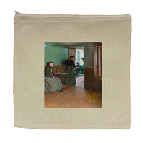 Interior Cafe In Spain (Santiago Rusinol) Canvas Zipper Tote Bag Makeup Bag by Style in Print