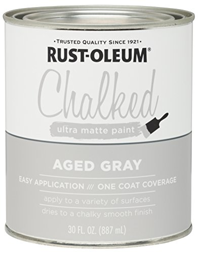 Rust-Oleum 285143 Ultra Matte Interior Chalked Paint 30 oz,  Aged Gray ()