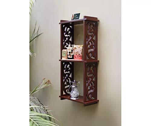 Onlineshoppee Hermosa Wall Decor Rack Shelves  Brown