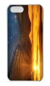 case customized cases sunset road landscape PC Transparent Case for iphone 5/5S