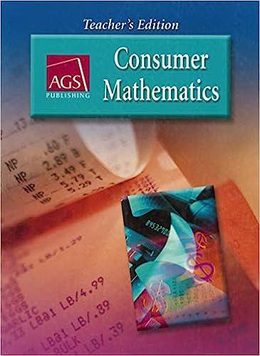 Ags Consumer Mathematics Teacher S Edition Kathleen M Harmeyer 9780785429449 Amazon Com Books Ags consumer math worksheets pdf