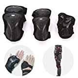 JZH Adult Children Protective Gear Set, Knee Pads Elbow Pads Wrist Guards 3 in 1 Safety Protective Gear Set for Multi Sports Skateboarding Inline Roller Skating Biking Bicycle Scooter.