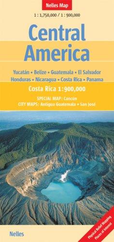 Nelles Map Central America (Landkarte) 1 : 1 750 00 / 1 : 900 000. Special Maps: Yucatan, Belize, Guatemala, El Salvador, Honduras, Nicaragua, Costa Rica, Panama and City Maps