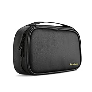 ProCase Travel Electronics Cable Organizer Bag, Double Layer Thicken Portable Gadget Accessories Storage Carrying Case Pouch for Cords USB SD Memory Cards Earphones Power Bank Hard Drive –Black