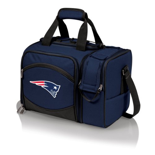 - PICNIC TIME NFL New England Patriots Malibu Insulated Shoulder Pack with Deluxe Picnic Service for Two