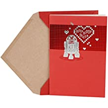 Hallmark Valentine's Day Greeting Card (Star Wars R2-D2 and Hearts)