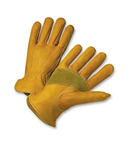 West Chester Holdings 84000/L Master Guard Premium Grain Cowhide Driver Glove, Gold
