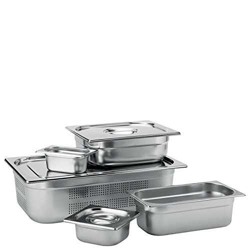 Box of 6 F70036-000000-B01006 Utopia Stainless Steel Gastronorms Stainless Steel Perforated GN 1//1 Pan 2cm Deep
