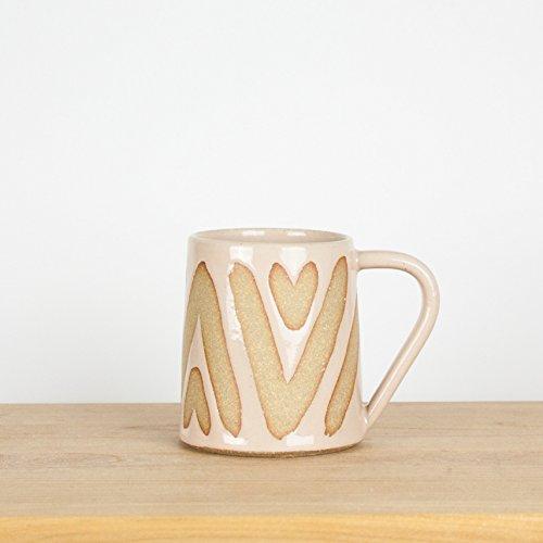 Modern Blush Pink Geometric Boho Ceramic Coffee Mug - 12 oz