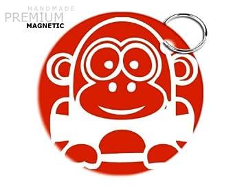 JCM impresionante Funny Cartoon gorila magnético llavero ...