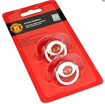 Amazon.com: Oficial Manchester United FC juego de 2 chupetes ...