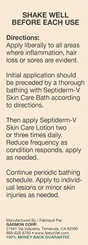 Image of NaturVet Septiderm-V Skin Care Lotion for Dogs and Cats, 16 oz Liquid, Made in USA